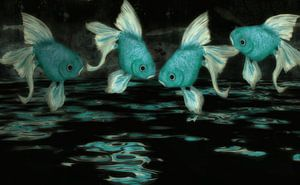 Feng Shui - blauw turquoise van