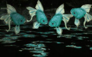 Feng Shui - blauw turquoise van Christine Nöhmeier