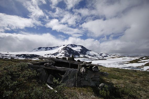 Norway snow mountain van Erwin Verweij