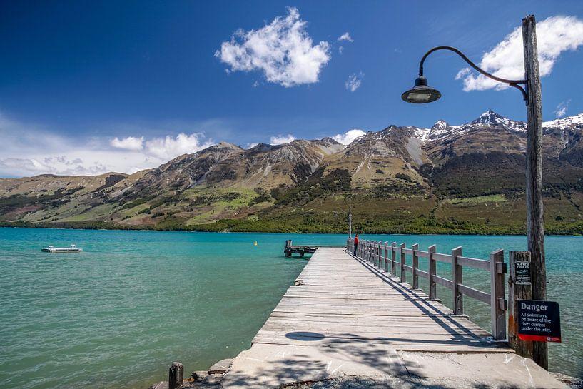 Lake Wakatipu bij Glenorchy, Nieuw Zeeland van Christian Müringer