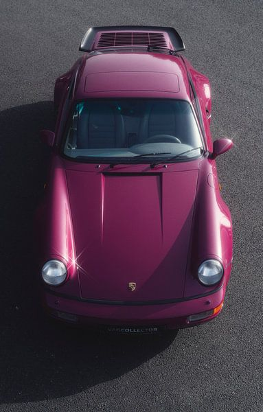1991 Porsche 964 Turbo Rubystone Red sur Gijs Spierings