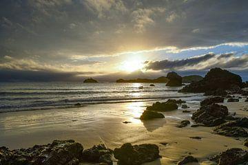 Strand met zonsopgang van Robert Styppa