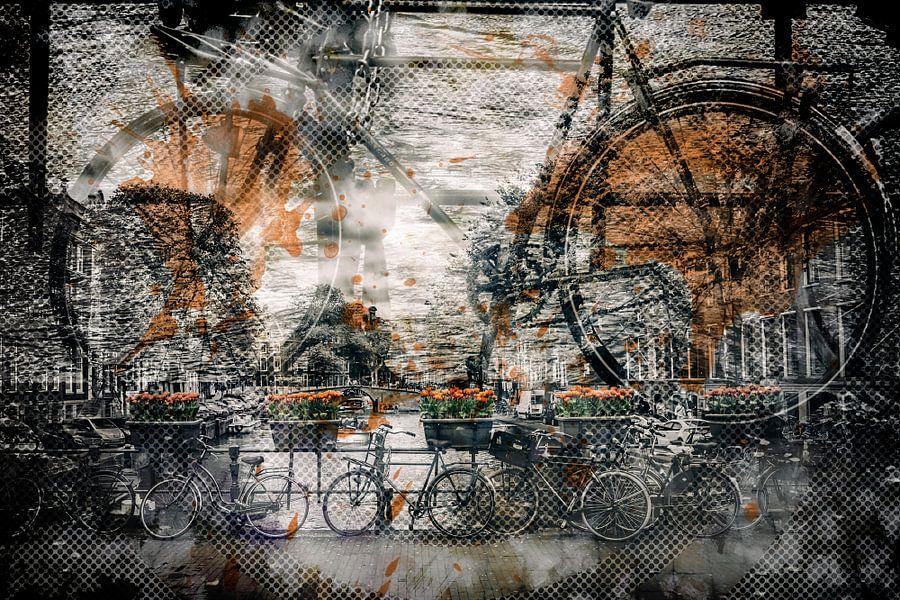 City-Art AMSTERDAM Bicycles  van Melanie Viola