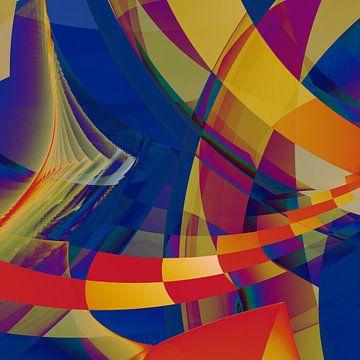 Composition abstraite 468 van Angel Estevez