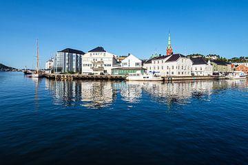 Vue de la ville d'Arendal en Norvège