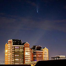 La comète Neowise au-dessus de l'Oosterheem de Zoetermeer sur Ricardo Bouman