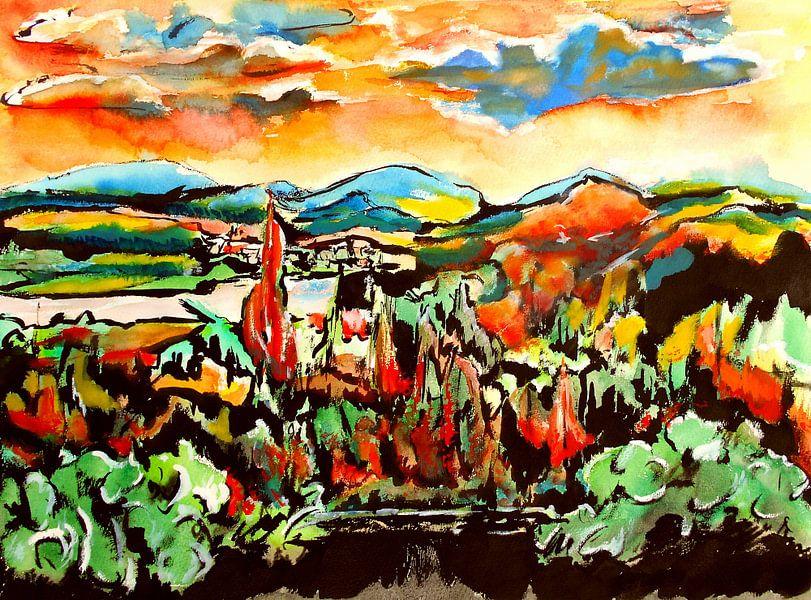 Landscape Bostalsee van Eberhard Schmidt-Dranske