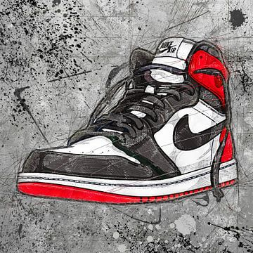 Air Jordan Grunge von Rene Ladenius Digital Art
