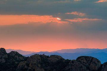 Uitzicht van roca Pedralta, Costa  Brava van Rens Kromhout