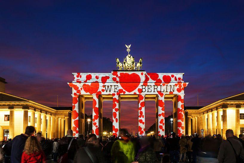 De Brandenburger Tor Berlin in een bijzonder licht van Frank Herrmann