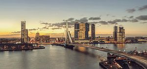 Rotterdam bij ochtendgloren van