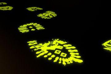 Neon Bootprints van Jörg Hausmann
