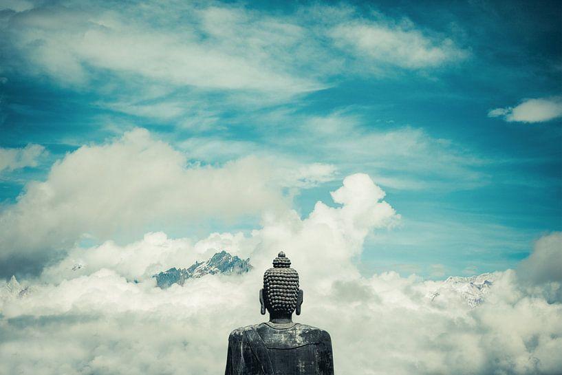 Boeddha over bergen van Edgar Bonnet-behar