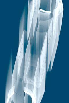 Dynamisch blauw van Jörg Hausmann