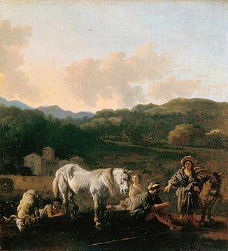 Boeren en een wit paard, Karel Dujardin