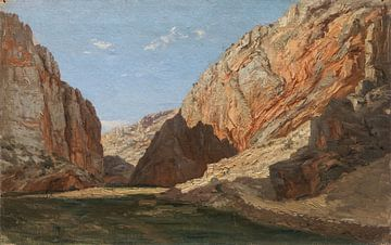 Carlos de Haes-Bergpass, Steinschluchtlandschaft, Antike Landschaft