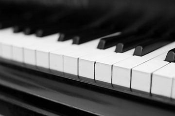 Piano sleutel zwart-wit beeld von Falko Follert
