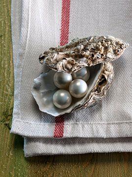 Parels in een oester. van Ruurd Dankloff