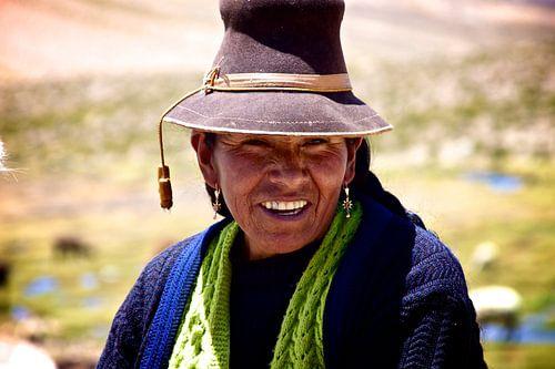 Peruaanse vrouw in de Valle de Colca van