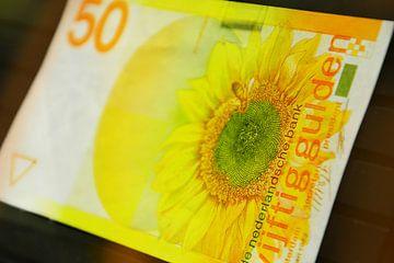 50 gulden biljet - 50 guilder banknote van Wim Goedhart