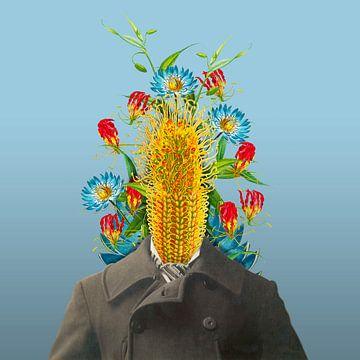 Zelfportret met bloemen 5 van toon joosen
