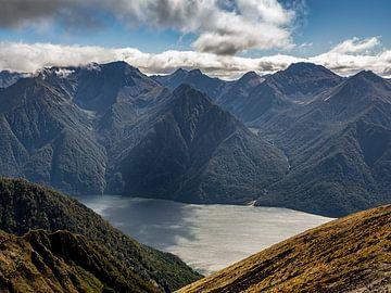 Het Meer in de Diepte van Fiordland National Park in Nieuw-Zeeland van Rik Pijnenburg