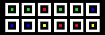 Nested | Center | 06x02 | N=02 | Random #04 | RGBY van Gerhard Haberern