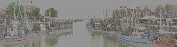 De oude vissershaven van Neuharlingersiel