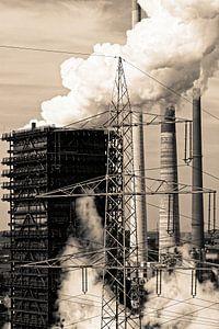 Industrieel landschap in Duisburg (7-13024) van Franz Walter
