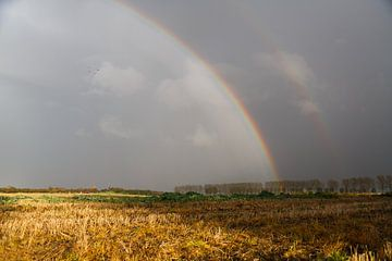 Regenboog in de herfst van Rolf Pötsch