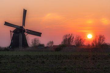 Oranje lucht bij Molden de Steendert van Moetwil en van Dijk - Fotografie
