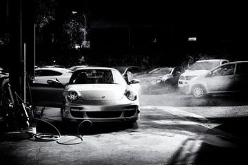 Porsche 911 turbo Cabrio Typ 997.1 in special black & white von aRi F. Huber
