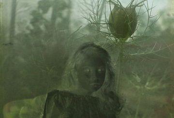 Meisje met de bloem. von Marianne de Wit-Koenen