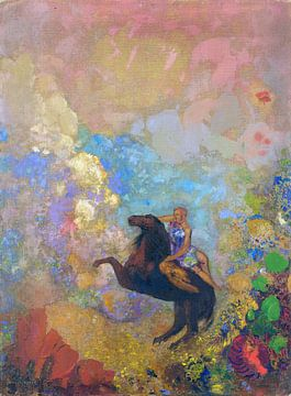 Odilon Redon, Muse auf Pegasus - 1910 von Atelier Liesjes