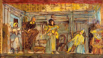 Entwurf für ein Wandgemälde für das Théâtre des Champs-Elysées, Édouard Vuillard