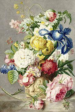 Blumenstrauß , Cornelis Ploos van Amstel (1778) von Atelier Liesjes