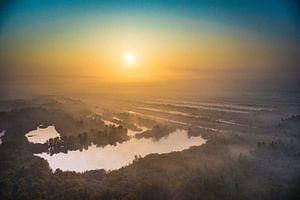 Mist bij zonsopgang van