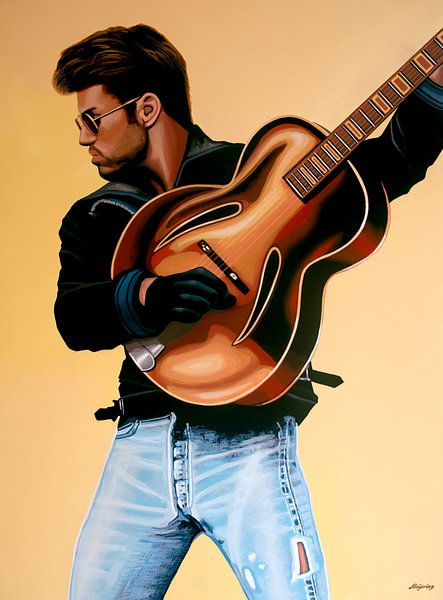 George Michael Schilderij