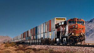 Güterzug der BSNF in Kalifornien