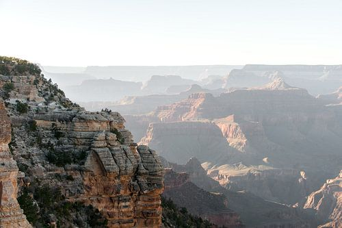 the Impressive Grand Canyon at sunset von Wim Slootweg