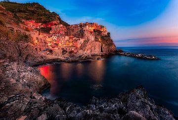 Zonsondergang in Cinque Terre van