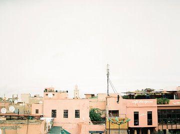 Place des Epices | Dakterrassen in Marrakech Marokko | Fine art reisfotografie print van