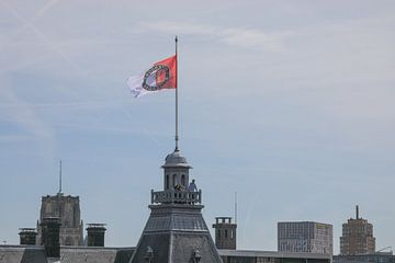 Feyenoord vlag op het Stadhuis tijdens de huldiging op de Coolsingel van MS Fotografie | Marc van der Stelt
