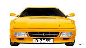 Ferrari Testarossa in yellow