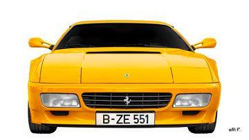 Ferrari Testarossa in het geel van aRi F. Huber
