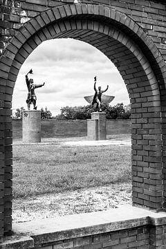 Memento park in Boedapest met communistische beelden van Eric van Nieuwland