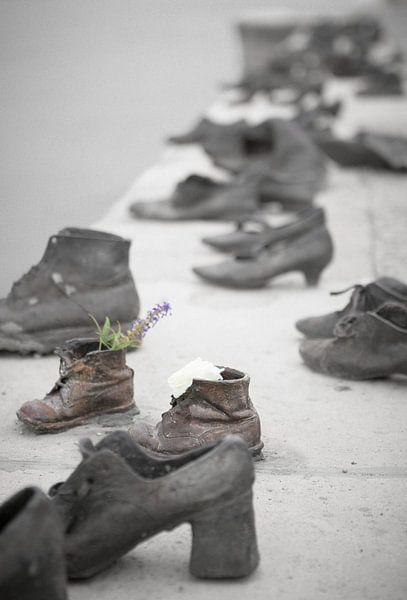 Schoenen aan de Donau / Shoes on the Danube van Erwin Zwaan