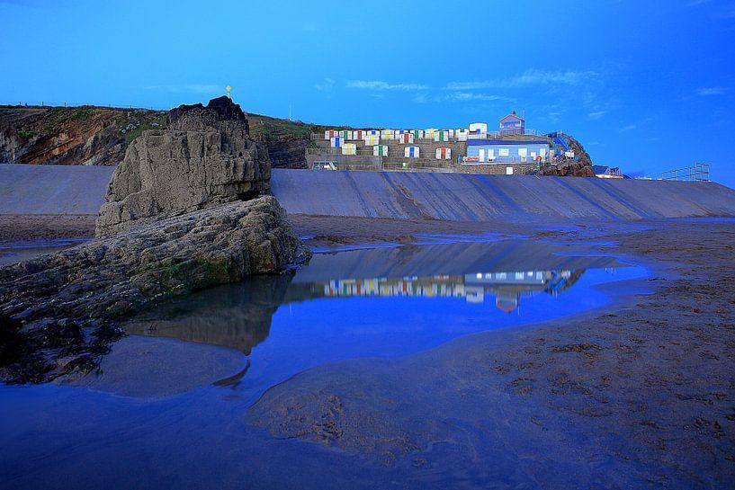 Strandhäuschen Bude Cornwall von Patrick Lohmüller