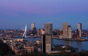 Panorama Rotterdam Zonsondergang van Daan Kloeg