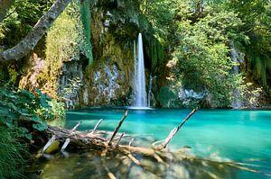 Paradijselijke waterval in Kroatië van Tim Wong